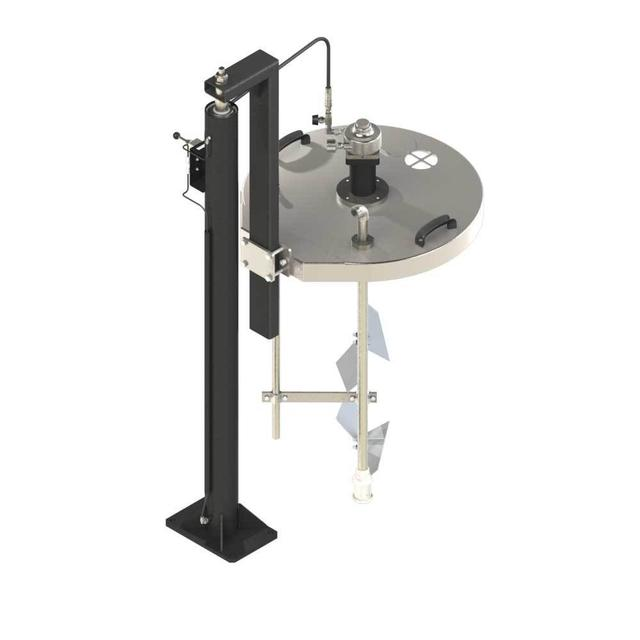 Cyclix drum cover agitator