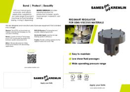Leaflet REGSMART Regulator for Semi-Viscous Materials (English version) SAMES KREMLIN